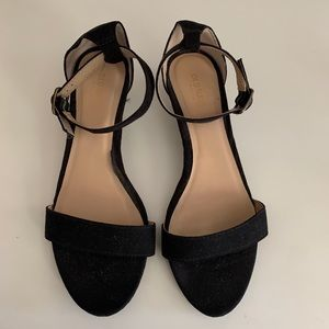 Old Navy Black Strappy Wedge Sandals, Size 9